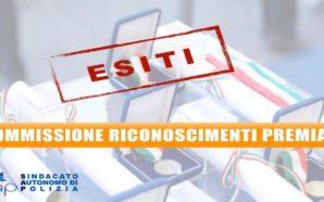 ESITI RIUNIONE COMMISSIONE TERRITORIALE RICOMPENSE DEL 12 NOVEMBRE 2019