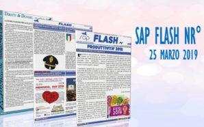 SAP FLASH NR° 12 DEL 25 MARZO 2019