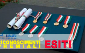 ESITI COMMISSIONE RICONOSCIMENTI PREMIALI DEL 19 LUGLIO 2018