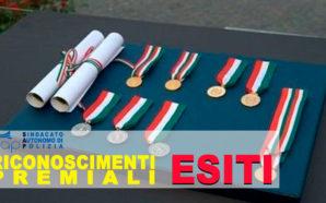 ESITI COMMISSIONE CENTRALE RICOMPENSE PREMIALI DEL 20 MARZO 2019