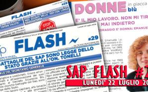 SAP FLASH NR° 29 DEL 22 LUGLIO 2019
