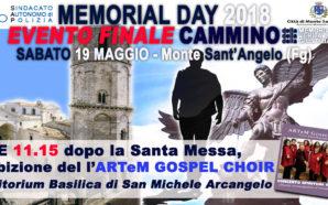 DOMANI A MONTE SANT'ANGELO L'EVENTO FINALE DEL CAMMINO DELLA MEMORIA