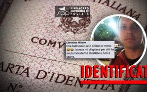 IDENTIFICATO E DENUNCIATO DALLA POLIZIA AUTORE DEL POST SHOCK SULLA…