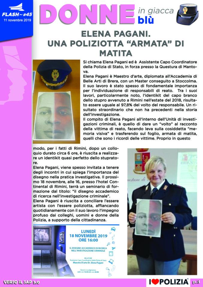 """ELENA PAGANI.  UNA POLIZIOTTA """"ARMATA"""" DI MATITA"""