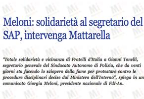 Meloni-solidariet-al-segretario-del-SAP-intervenga-Mattarella