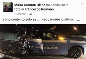 Querelato-l39autore-del-post-Facebook-contro-Nicola-il-collega-deceduto-in-un-incidente-stradale